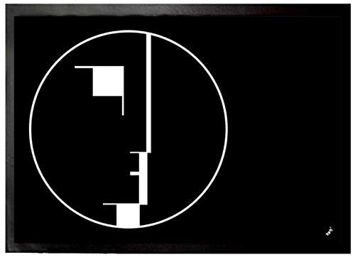 1art1 Oskar Schlemmer - Staatliches Bauhaus, Logo, 1922 Fußmatte Innenbereich und Außenbereich | Design Türmatte 70 x 50 cm