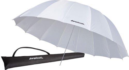 """Westcott - Paraguas para fotografía (7"""", 17,78 cm, 2,2 m), Color Blanco"""
