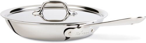 All-Clad D3 Stainless Cookware, 12-Inch Fry Pan with Lid, Tri-Ply Stainless Steel, Professional...