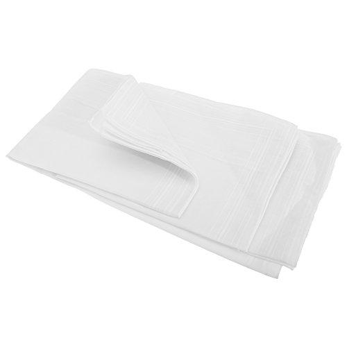Textiles Universels Mouchoirs blancs unis (lot de 5) - Homme (Lot de 5) (Blanc)