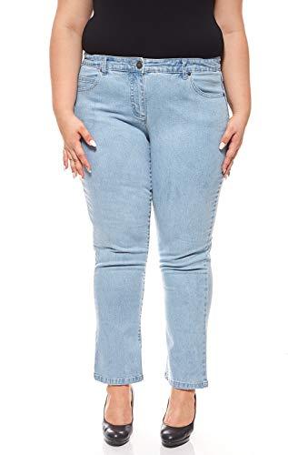 Sheego Jeans Denim Denim Ricami di Grandi Dimensioni Blu, Dimensione:42