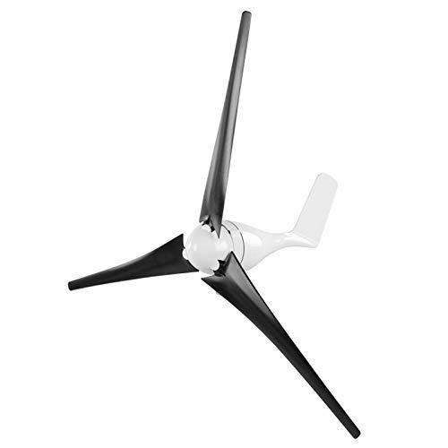 Generador de turbina de viento, generador de molino de viento 1200W Empresas de turbina de viento 3 palas Controlador de viento Kit de generador de turbina para carga marina doméstica(Black 24V)
