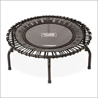 JumpSport 220 Fitness Trampoline | Safe & Stable Non-Tipping Arched Legs | Large Surface| Smooth Silent Bounce | Long Lasting Premium Bungees | Top Rated Quality & Durability | Music Workout DVD Incl.