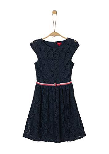 s.Oliver Junior Mädchen 401.12.002.20.200.2021766 Kleid, Blau (5952 Geishas Night Blue), 140/REG