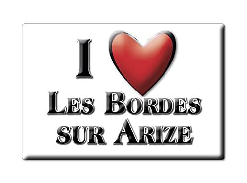 Enjoymagnets Les Bordes Sur ARIZE (9) Souvenir IMANES DE Nevera Francia FRANCHE COMTÉ IMAN Fridge Magnet Corazon I Love