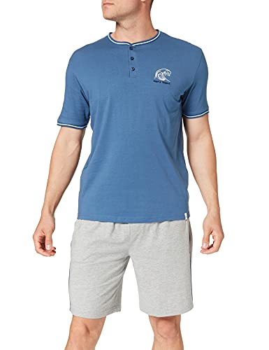 Springfield Pijama Corto CLÁSICO Juego, Azul Medio, L para Hombre
