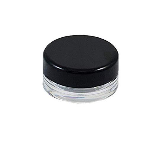 asdfwe 50pcs Cosmética Contenedores Vacíos De Plástico De Maquillaje Muestra Pot Tarro Crema Ronda De Contenedores con Tapón De Rosca De La Tapa De Sombra De Ojos, Uñas, Polvo, Pintura 3g ()