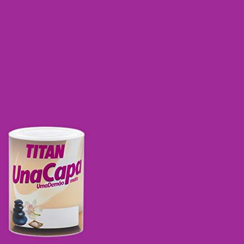 Industrias Titan. S.L 69630534 - Pintura plast mate 750 ml purpura int. mono una capa titan