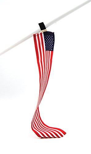 5er-Set USA Mini-Flagge | Flexible kleine Deko-Fahne | Fan-Artikel zur Dekoration in National-Farben für Fußball Handball WM EM Auto Boot Tasche oder Schüler-Austausch Messe Urlaub u.v.m.|