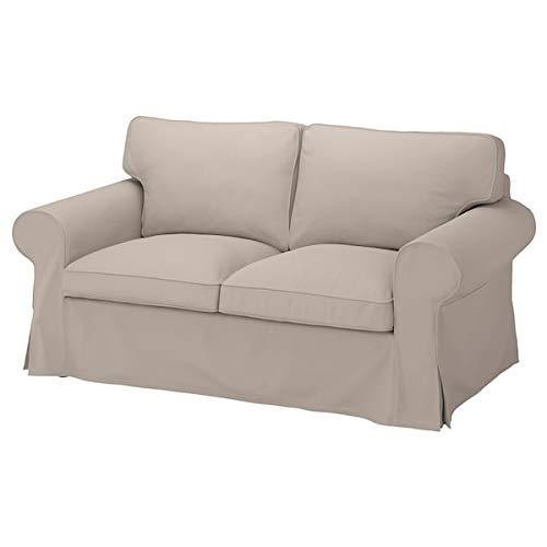 IKEA UPPLAND Loveseat Cover Totebo Light Beige 2-Seat Sofa Slipcover