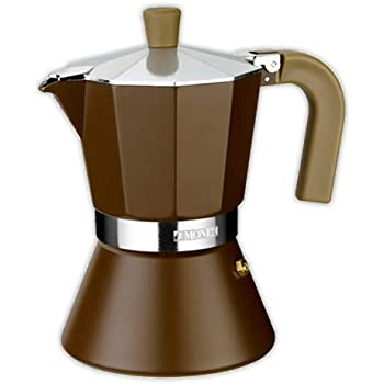 Cafetera italiana MONIX Cream 9 tazas | MONIX Induccion Vitro Gas Electrico: Amazon.es: Hogar