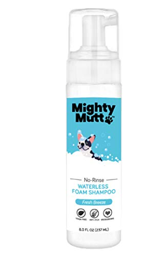 Mighty Mutt Hypoallergenic Waterless Shampoo for Dogs | Dry Shampoo for Dogs | Waterless Foam No Rinse | Anti-Itch, Soothing and Deodorizing | Fresh Breeze |8oz