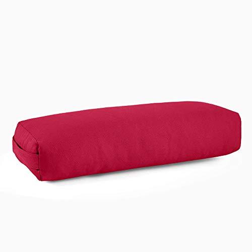 TINE Almohada de Yoga Almohada de la Almohada de la Cintura Pilates Cushion Lumbar Roll Yin Yoga Herramientas de Ayuda Suministros Almohada para ayudas cuadradas Yin Yoga Refuerzo,Rojo