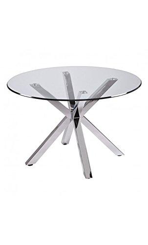 CAMINO A CASA - Table Ronde en Verre Pieds chromés Idol 120 cm
