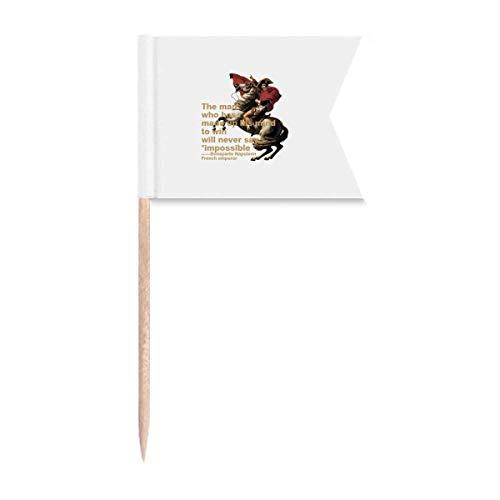 Europäischer Willen Napoleonischer Krieg Zahnstocher Flaggen Kennzeichnung für Party Kuchen Lebensmittel Käseplatte