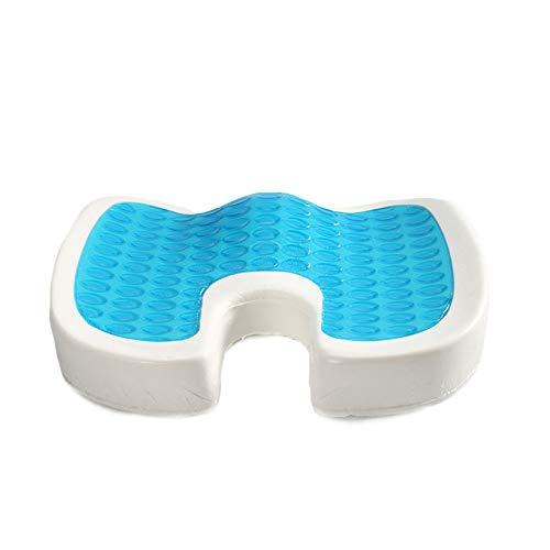 LASIMAO Gel Seat Cushion, Memory Foam Comfort Seat Pad,Orthopedic Sciatica Seat Pads Hemorrhoid For Office Home Chair Car Seat Recliner Wheelchair,A,45.5 * 36 * 6/7cm