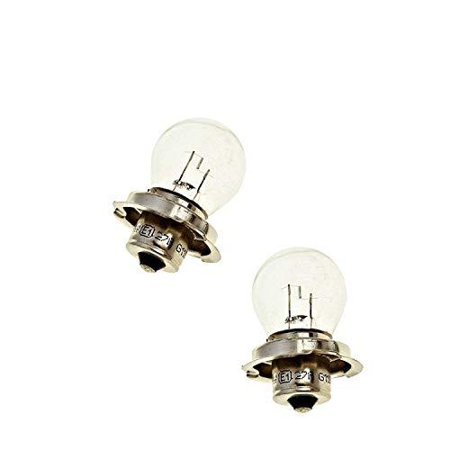 2x 6V Glühlampe/Lampe mit E-Zeichen - P26S - 15W - Roller Motorrad Scheinwerfer