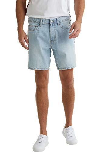 edc by Esprit Herren 040CC2C303 Jeans-Shorts, 904/BLUE Bleached, 32