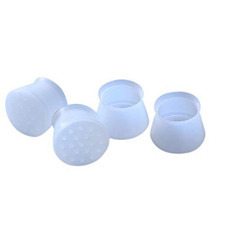 Yue668 - Funda antideslizante de silicona para mesa y pie de silla, resistente al desgaste, 20 unidades