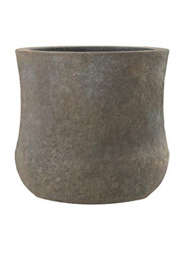 Esteras Emsa 8519831547 Fiberglas Blumenkübel Pflanzkübel Kerry braun, Old Stone (47 x 47 cm)