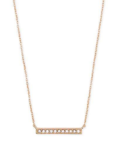 Kendra Scott Addison Pendant Necklace for Women, Fashion Jewelry, 14k Rose...
