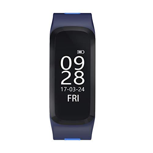 CloverGorge N ° 1 F4 Pulsera Inteligente 30 m Pulsera Deportiva a Prueba de Agua Monitor de frecuencia cardíaca de oxígeno en Sangre para Android iOS