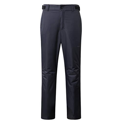 Eono Essentials - Pantalón térmico de esquí para hombre Draven (negro, M)