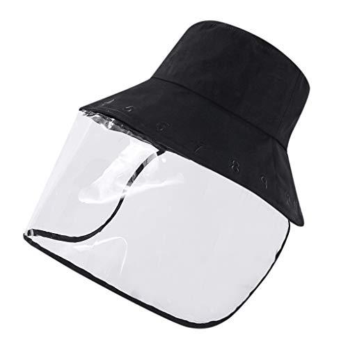 Feytuo Gorra de Béisbol Cubierta de Saliva Anti-Escupir, Tamaño Ajustable Impermeable a Prueba de Polvo Protector de Cara Al Aire Libre Protector Solar para El Sol Gorra
