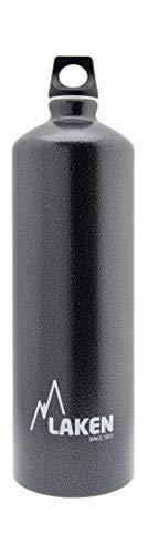 Laken Futura Alu Trinkflasche Schmale Öffnung Schraubdeckel mit Schlaufe 1.5L, Granit