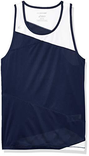 ASICS Gunlap - Camiseta sin mangas para hombre, Hombre, Camiseta de tirantes anchos, #REF!, azul y blanco, S