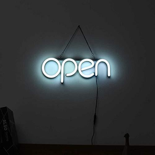 HNCS LED Leuchtreklame Schild FüR Laden Open Wort Neon Nachtlichter Panel Beleuchtung FüR Bar Schaufensterwerbung Business Laden Restaurant Powered by USB
