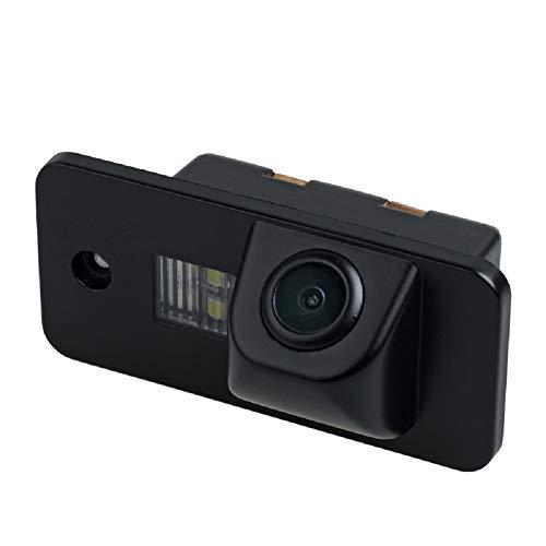 HD 720p Farb Rückfahrkamera Kennzeichenbeleuchtung Kamera Einparkhilfe mit Distanzlinien kompatibel für A1 A2 A3 8P A4 B7 A5 A6 A7 RS4 TT S5 S4 S3 Q5 Q7 TTRS