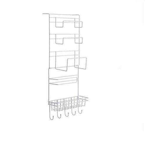 Rejilla del refrigerador Plato Secado Rack Wrap Papel Papel Toalla Bolsa Colgante Taza de succión Rack Rack Drain Rack Cocina Multifunción Frigorífico Refrigerador Rack Para Encimera de Cocina o En Fr