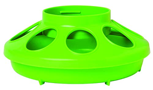 Little Giant Plastic Feeder Base (1 Quart) Heavy Duty Plastic Feed Tray Base for Container (Apple Green) (Item No. 806APPLEGREEN)
