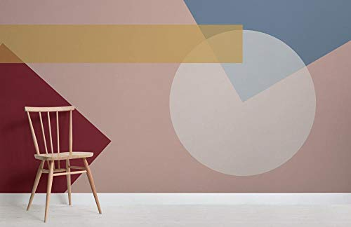 Mutige geometrische Formen modernes Bauhaus-Tapeten-Wandgemälde 350×245cm