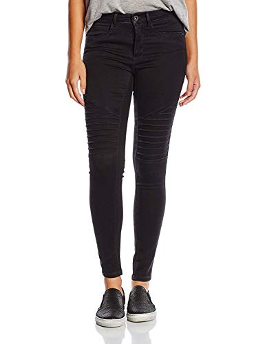 ONLY Damen Skinny Hose Onlroyal Reg Biker Jeans Pim600, Gr. 38/L30 (Herstellergröße: M), Schwarz