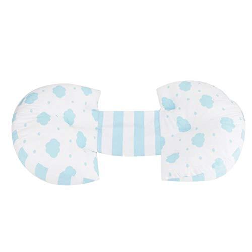 Almohada de embarazo, almohada multifuncional de soporte del vientre para uso en el automóvil para mujeres embarazadas para uso doméstico(Blue clouds)