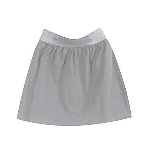 Accesorios de tela para bricolaje, falda, ropa para mujer, multiusos, fácil de llevar, cintura elástica, falda para mujer o niña, color gris L A