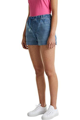 edc by Esprit Damen 040CC1C306 Jeans-Shorts, 902/BLUE MEDIUM WASH, 31