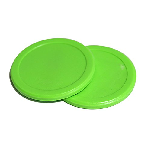 For Sale! 2-1/2 Dynamo Green Air Hockey Puck Set of 2