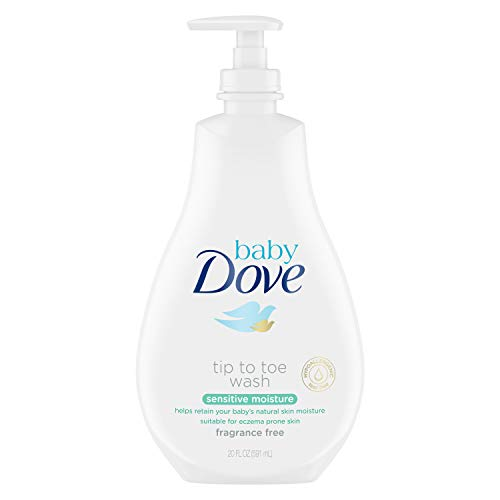 Baby Dove Tip to Toe Baby Wash and Shampoo For Baby's Delicate Skin Sensitive Moisture Tear-Free and Hypoallergenic 20 oz