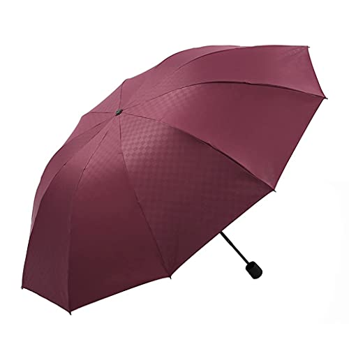 DAGUAI Paraguas para Lluvia de Gran tamaño y Simple Paraguas a Prueba de Viento Paraguas compactas Manual de luz Fuerte y portátil portátil (Color : C)