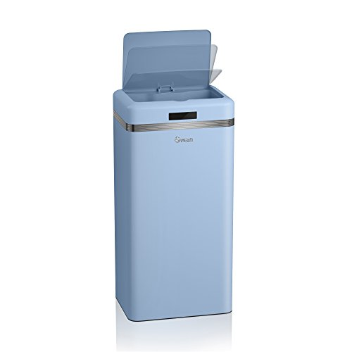 Swan Retro Kitchen Bin with Infrared Technology 45 L - Duck Egg Blue