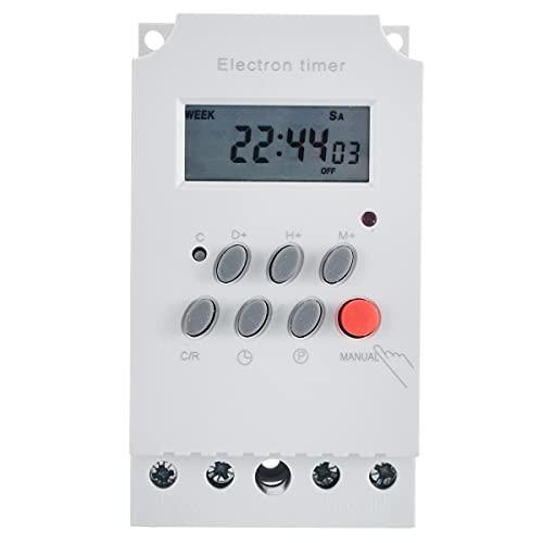 ZHYONG Nuevo KG316T-II Riel DIN LCD Interruptor de Temporizador electrónico programable Digital AC 220V 25A para electrodomésticos Nuevos Accesorios para Equipos de medición
