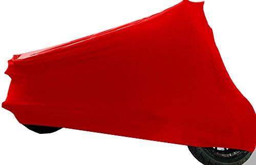 Car-e-Cover Motorradplane Motorrad Abdeckung Abdeckplane Perfect Stretch, elegant formanpassend Innen, DREI Farben, DREI Grössen