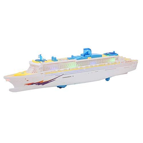 Atyhao Modello Aerodinamico della Barca, Giocattolo Elettrico della Barca della Nave di Musica Giocattolo Altamente di Simulazione della Barca con L'effetto Sonoro delle Luci