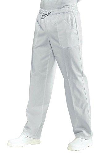 Isacco 044000 Pantalone con Elastico, Taglia XXL, Bianco