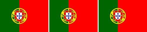Etaia 2,5x4 cm - 3X Mini Aufkleber Fahne/Flagge von Portugal kleine Europa Länder Sticker Auto Fahrrad Motorrad Bike Handy