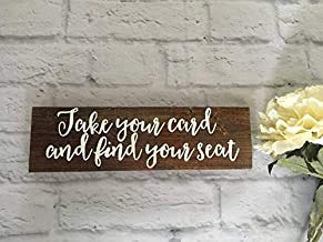 Cartel de Boda con Texto en inglés «Take Your Name Table Find Your Seat Place Cards»