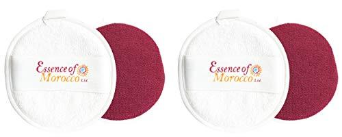 Houppette Kessa Marocaine pour exfoliation et nettoyage du visage et cou. Double Face (2 Houppettes)